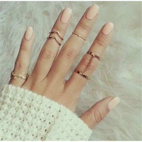 6pcs Knuckle Ring Set
