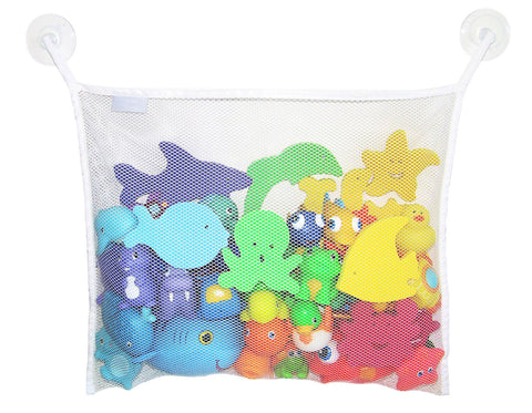 Bath Toy Organizer Net + 2 Bonus Strong Hooked Suction Cups