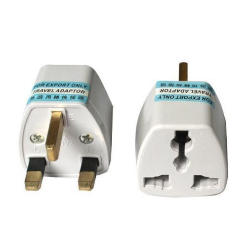 20 X Portable US AU EU Europe to UK Power Socket Plug Adapter Travel Converter