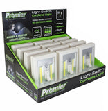 Battery Operated LED Pivot lights for Under Cabinet, Shelf, Closet, Nightlight & Kitchen RV & Boat