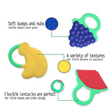 Baby Teether Toys 3pcs set , Best Infant & Toddler Teething Pain Relief Silicon toy