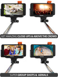 Bluetooth Wireless Selfie Stick All-In-One, Monopod Extendable iPhone