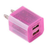 LED 2 Ports Universal Home Travel AC USB Wall Charger US Plug For iPhone & Samsung