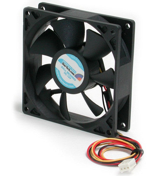 92x25mm Ball Bearing Quiet Computer Case Fan w/ TX3 Connector - StarTech FAN9X25TX3L