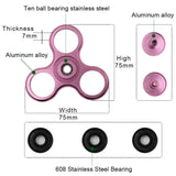 Fidget Spinner High Speed Stainless Steel Bearing ADHD Focus Anxiety Relief Toys