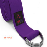 Yoga Straps 10 FOOT (D-Ring) Made of 100% Best Durable Cotton