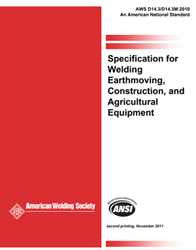 AWS D14.3/D14.3M: 2010 AMD1 Specification for Welding Earthmoving, Construction and Agricultural Equipment