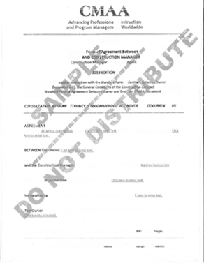 Agency Series Model Contract Documents 2013