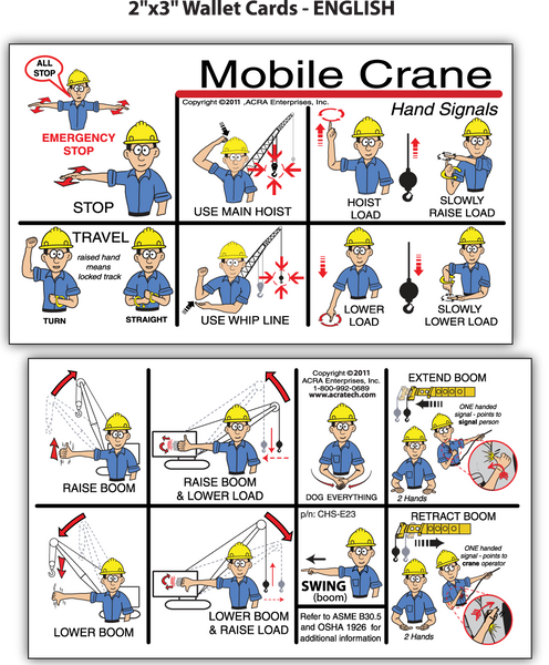 Mobile Crane Hand Signals (ENGLISH)