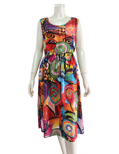 OZAYA Print Dress with Tie (DDA-12038)