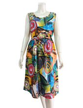 Load image into Gallery viewer, OZAYA Print Dress with Tie (DDA-12038)