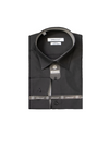 Men's Solid Shirt Made in Turkey Black & White