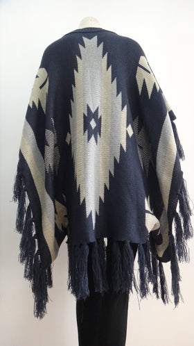 Ladies Aztec poncho