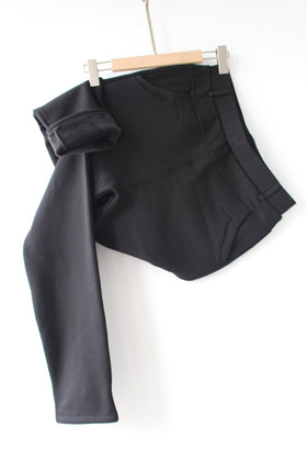 Ladies' high waist belted pants