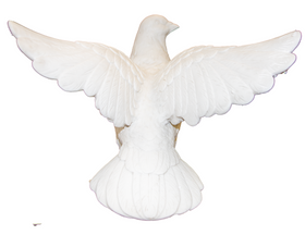 The Dreamed Dove Made of White Marble (M-2804)