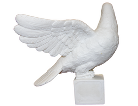 The Loved Dove Made of White Marble (M-2805)