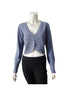 Women's knitted crop cardigan