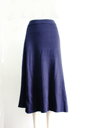 Solid Color High-waisted skirt