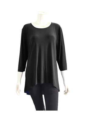 Women's three quarter sleeve basic top