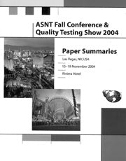 2004 ASNT Annual Conference Paper Summaries