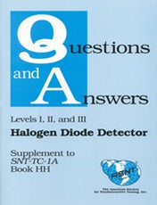 Halogen Diode Detector Testing Method (Book HH) -Supplement to Recommended Practice No. SNT-TC-1A (Q&A Books) - Leak Testing Methods