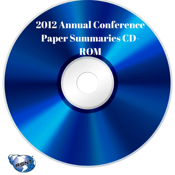 2012 Annual Conference Paper Summaries CD-ROM