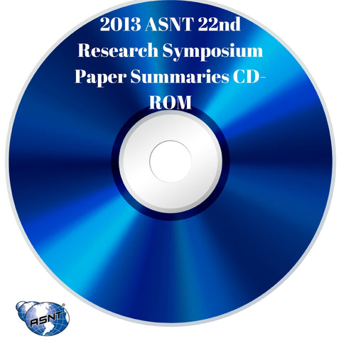 2013 ASNT 22nd Research Symposium Paper Summaries CD-ROM