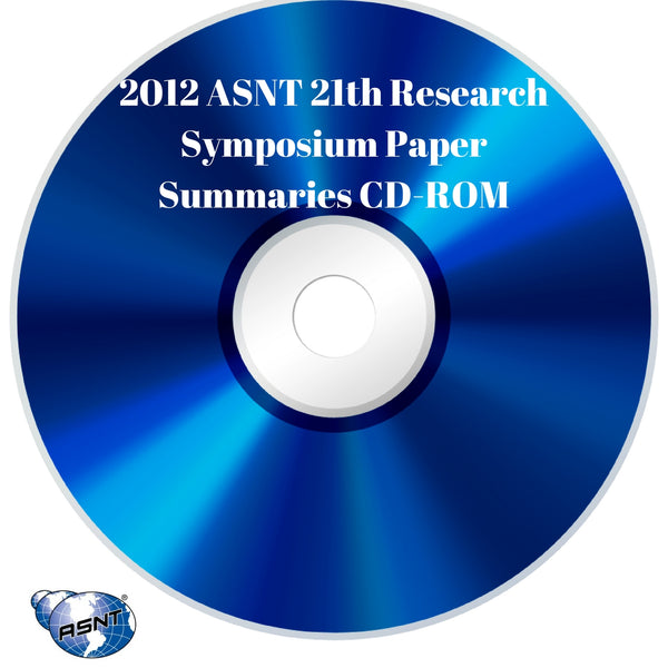 2012 ASNT 21th Research Symposium Paper Summaries CD-ROM