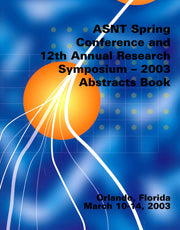 2003 ASNT Spring Conference Paper Summaries