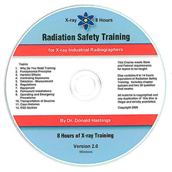 8-Hour Radiation Safety Training for X-ray Industrial Radiographers CD-ROM