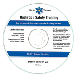Radiation Safety Training Demo CD-ROM