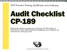 NDT Personnel Training, Qualification and Certification — Audit Checklist 2011 CP-189