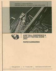 2003 ASNT Annual Conference Paper Summaries