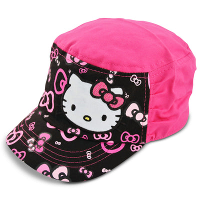 Sanrio Hello Kitty Cadet with Satin Character Patch, Multi-Color, Little Girls, Age 4-7 - The Accessories Outlet