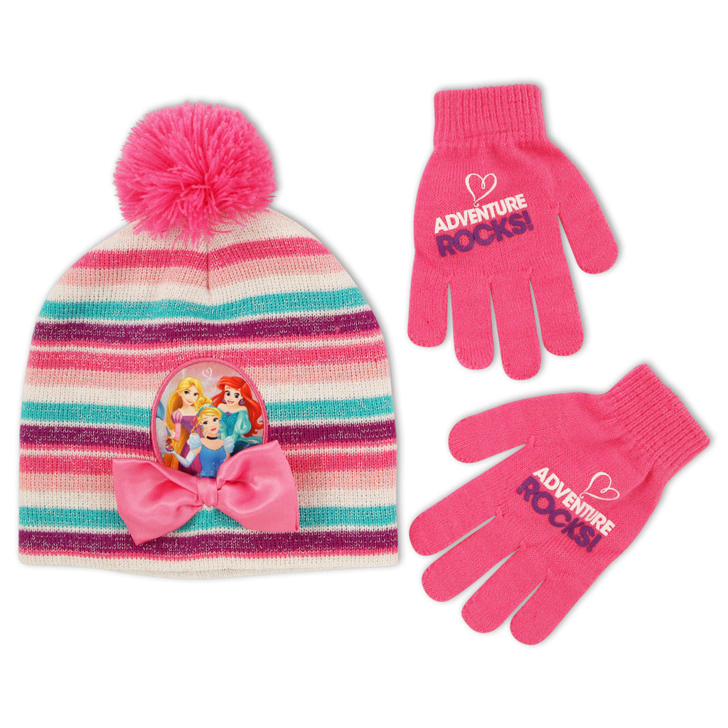 c09d2f6ea0e Disney Princess Character Hat and Gloves Cold Weather Set