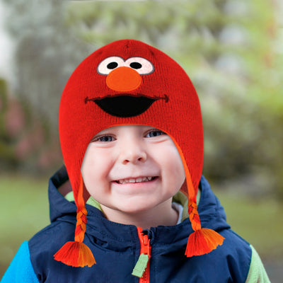 Sesame Street Elmo Hat and 3 Pair Mittens Cold Weather Set, Toddler Boys, Age 2-4