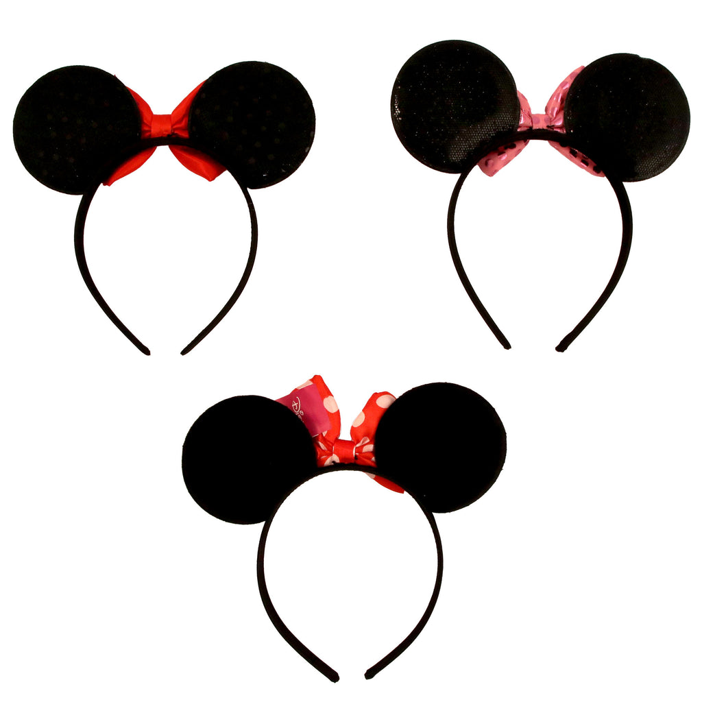 Disney Minnie Mouse Assorted Color 3 Piece Headband Set, Little Girls, Age 2-7 - The Accessories Outlet