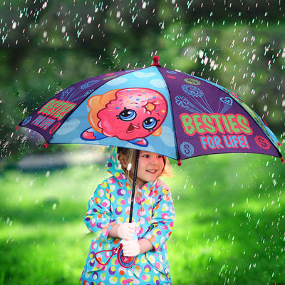 Shopkins Little Girls Assorted Character Rainwear Umbrella, Age 3-7 - The Accessories Outlet