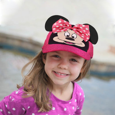 Disney Minnie Mouse Bow-tique Cotton Baseball Cap, Little Girls, Age 4-7 - The Accessories Outlet