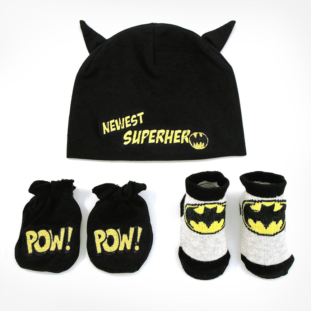 DC Comics Batman Take-Me-Home Set, Black, Baby Boys 0-3 Months - The Accessories Outlet