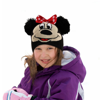 Disney Minnie Mouse Hat and Gloves Cold Weather Set, Little Girls, Age 4-7 - The Accessories Outlet