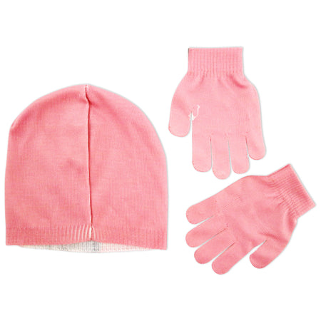 2f45680b3 ... ABG Accessories Pug or Kitty Design Beanie and Gloves Cold Weather Set,  Little Girls,
