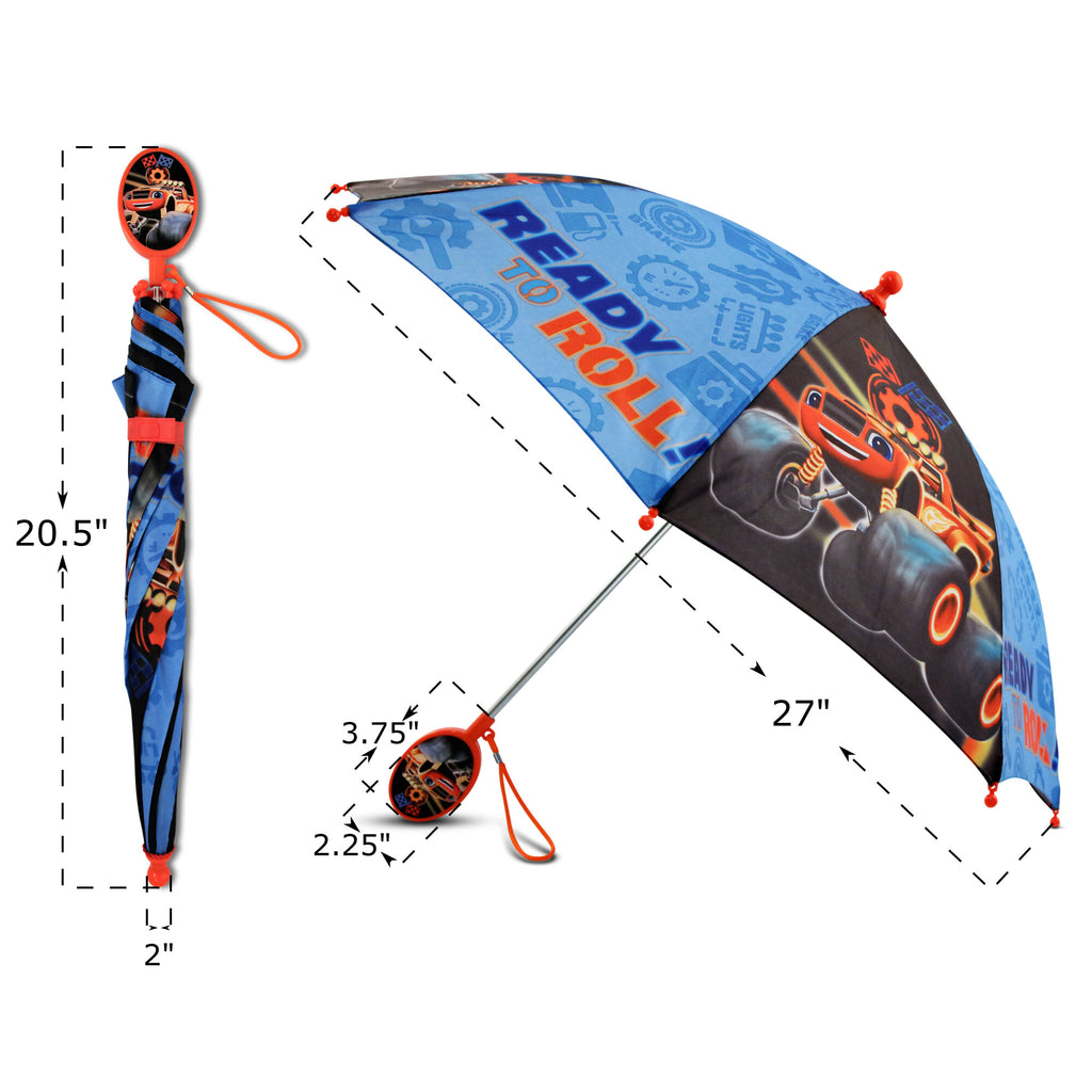 Nickelodeon Blaze Character Rainwear Umbrella, Little Boys, Age 3-7 - The Accessories Outlet