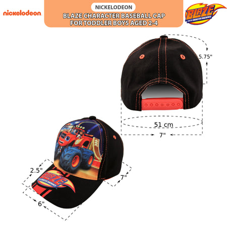 Nickelodeon Blaze and the Monster Machines Cotton Baseball Cap, Toddler Boys, Age 2-4 - Accessory Place