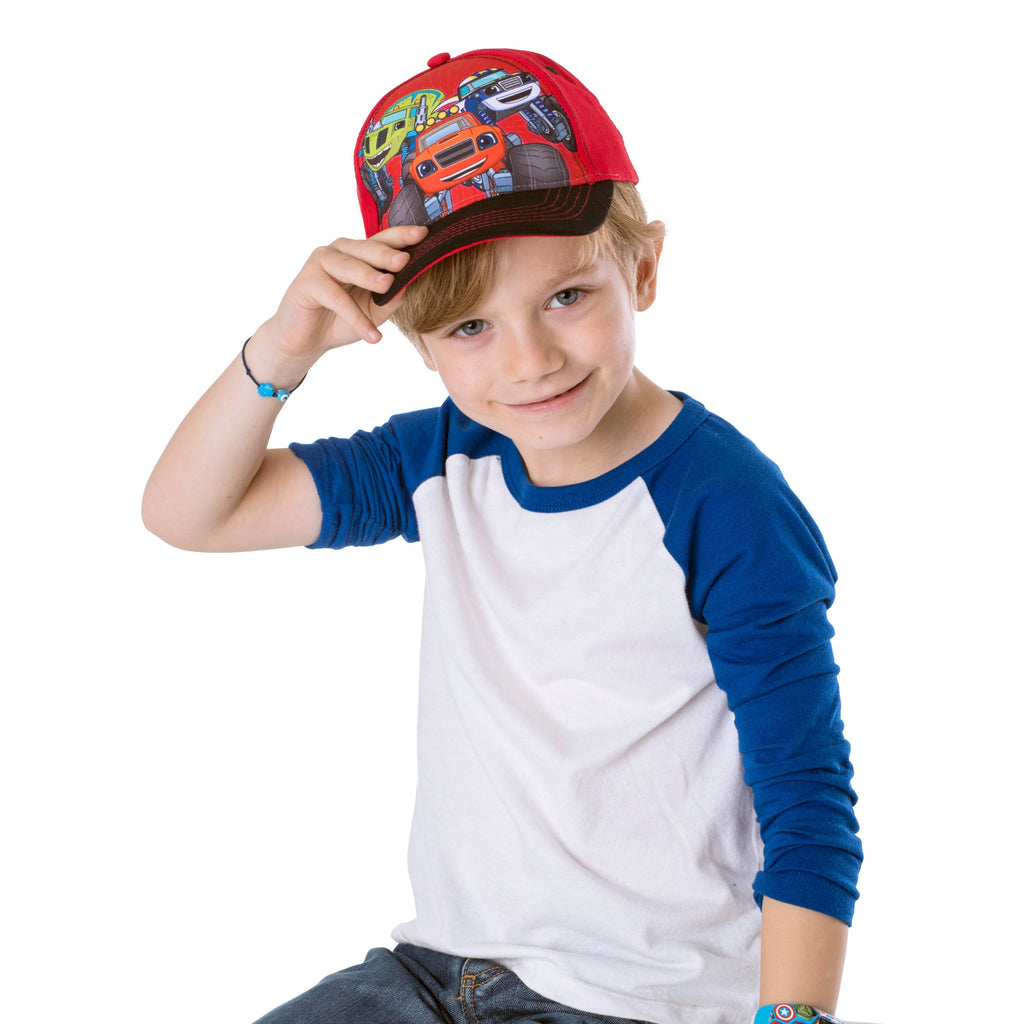 Nickelodeon Toddler Boys Blaze Character Cotton Baseball Cap, 2 Piece Design Set, Age 2-4 - The Accessories Outlet