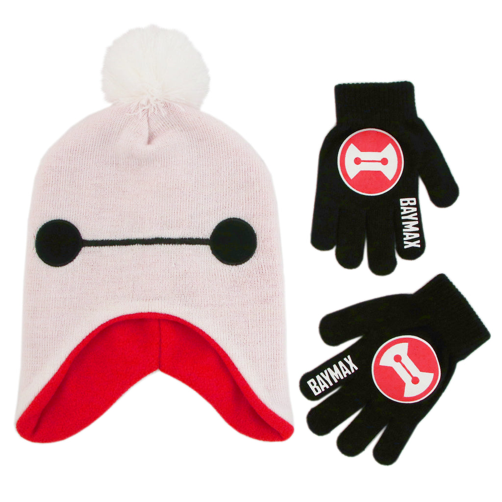 Disney Big Hero 6 Hat and Gloves Cold Weather Set, Little Boys, Age 4-7 - The Accessories Outlet
