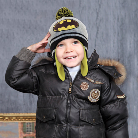 DC Comics Batman Hat and 2 Pair Mittens Cold Weather Set, Toddler Boys, Age 2-4 - The Accessories Outlet