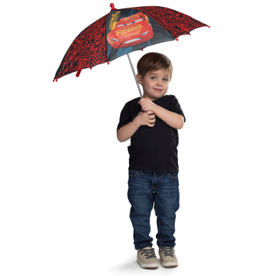 Disney Cars Little Boys Lightning McQueen Rainwear Umbrella, Age 3-7 - The Accessories Outlet