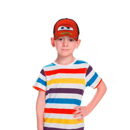 Disney Little Boys Cars Lightning McQueen Character Cotton Baseball cap, Red/Black, Age 2-7 - The Accessories Outlet