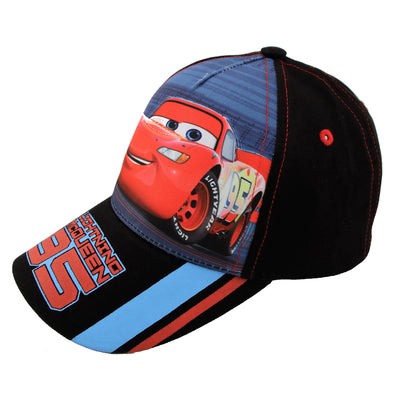 Disney Cars Lightning McQueen Character Cotton Baseball Cap, Toddler Boys,Age 2-4 - The Accessories Outlet
